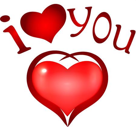 I Love you   heart symbol Illustration
