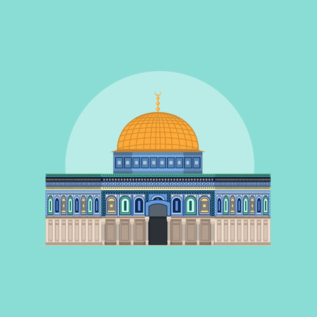 Dome of Rock - Masjid Aqsa 矢量图像