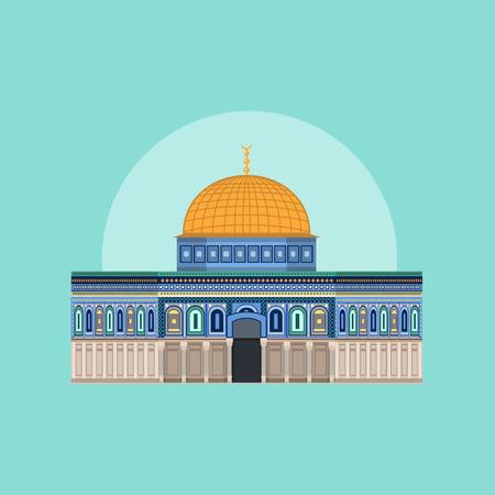 Dome of Rock - Masjid Aqsa Illustration