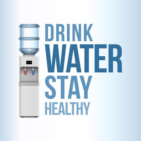 Beber agua, mantenerse saludable - Diseño de carteles