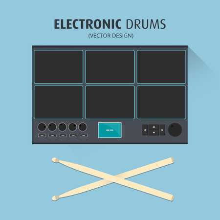 Electronic Drums - Vector Design