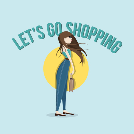 LETS GO SHOPPING - Character Vector Design