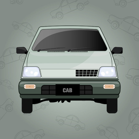 Mini Cab - Vector Design