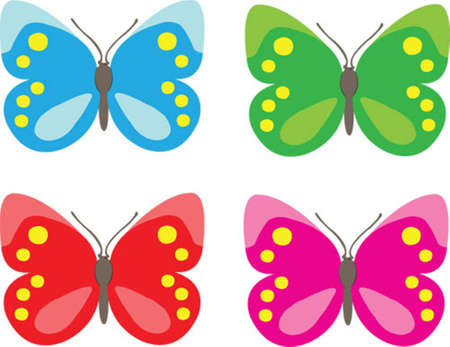 butterfly colors Stock Vector - 8308360