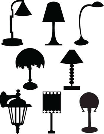 collection de lampe Illustration