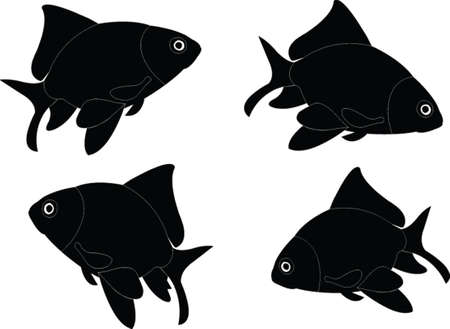 vecteur des poissons rouges Illustration