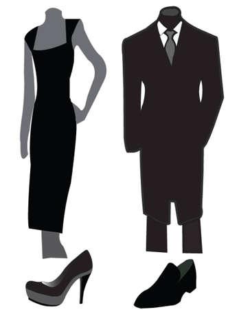 men and women: elegant style vector