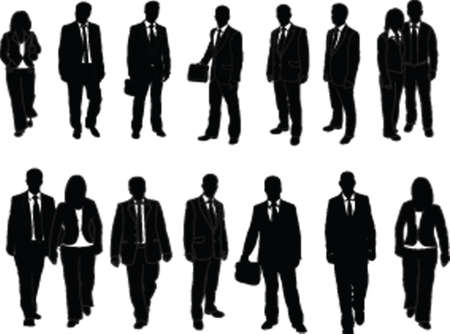 business man collection vector Illustration