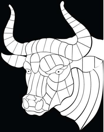bullfighter: bull vector