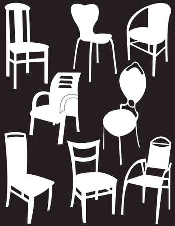 collection de chaises - vecteur Illustration