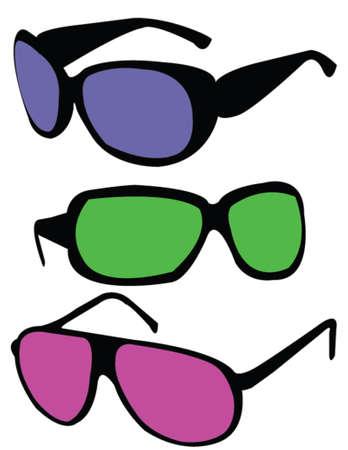 uv: gafas de sol - vector