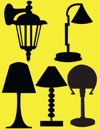 collection de lampes Illustration
