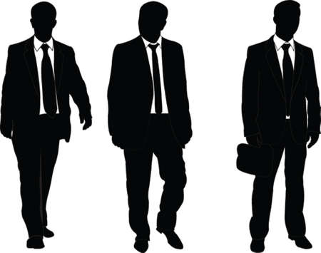 black suit: business man - vector