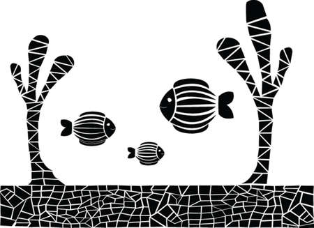 fish silhouette - vector Illustration