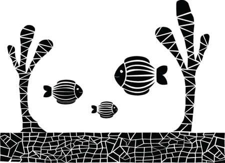 silhouette de poisson - vecteur