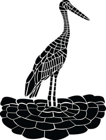 Cigogne - vecteur Illustration