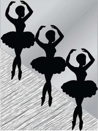 three dancers - vector