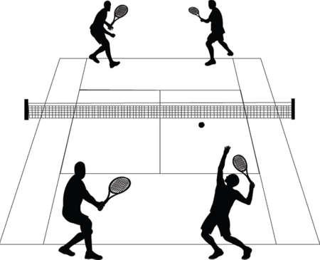 court de tennis - vecteur