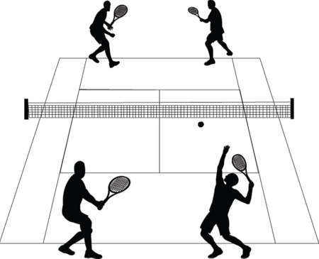 tennis court - vector