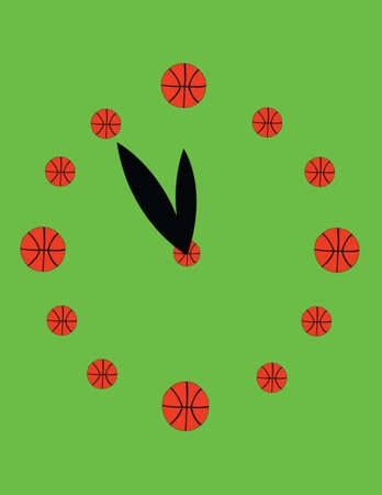 watch basketball - vector Illustration
