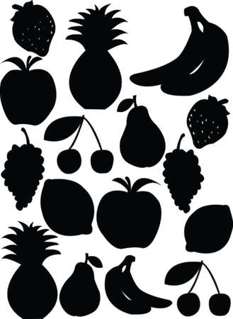 banana leaf: fruit collection  Illustration