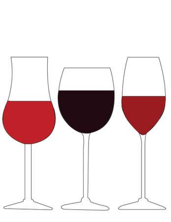 verres � vin Illustration