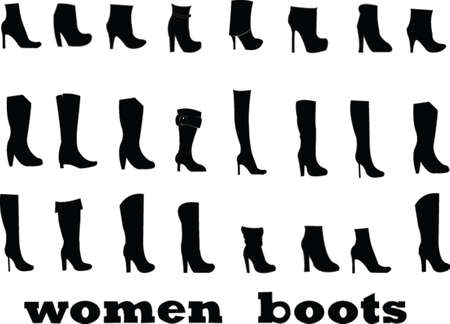 collection de chaussures - vecteur
