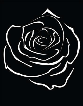saint valentine: roses black - vector