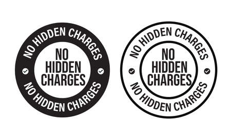 no hidden charges vector icon, financial abstract.