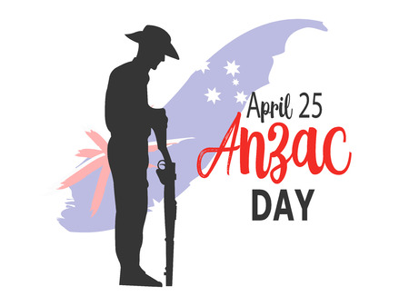 Anzac Day poster design template
