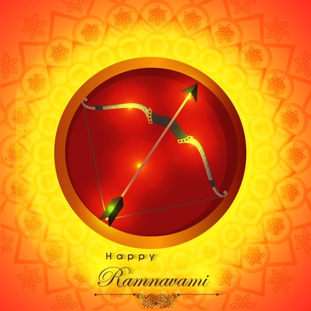 Creative banner or poster for Ram Navami with nice and beautiful design illustration with message ram navami festival in a background. Illustration
