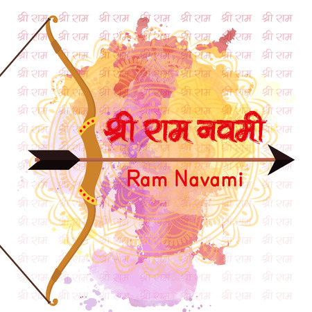 Creative banner or poster or flyer for Ram Navami with nice and beautiful design illustration with message ram navami festival in a background.