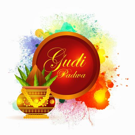 creative vector abstract for Gudi Padwa with nice and creative design illustration in a creative background.