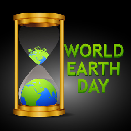 Earth Day. Eco friendly ecology concept. Flat Vector illustration. Earth day flat concept. World environment day background. Save the earth. Ilustração