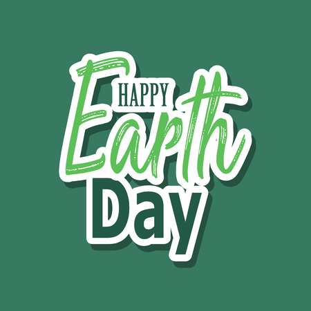 Earth Day. Eco friendly ecology concept. Flat Vector illustration. Earth day flat concept. World environment day background. Save the earth. Reklamní fotografie - 97069728