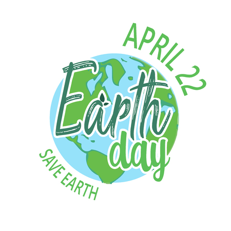 Earth Day. Eco friendly ecology concept. Flat Vector illustration. Earth day flat concept. World environment day background. Save the earth. Ilustrace