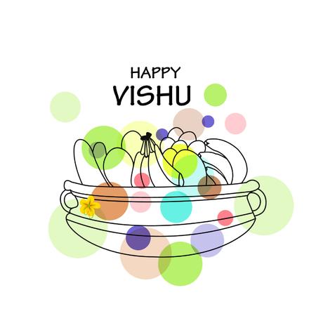 Stock vector beautiful vishukani flower card for vishu festival