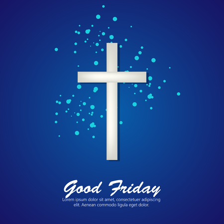 Vector illustration of cross for Good Friday