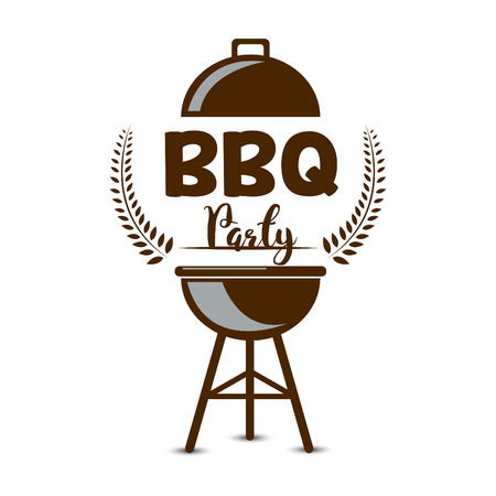 creative vector illustration of Barbecue party design,  invitation, logo. BBQ template menu design, Food flyer, advertisement, ad design. Ilustração