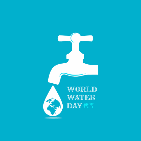 World Water Day Campaign. Suitable for Greeting Card and Poster. 矢量图像