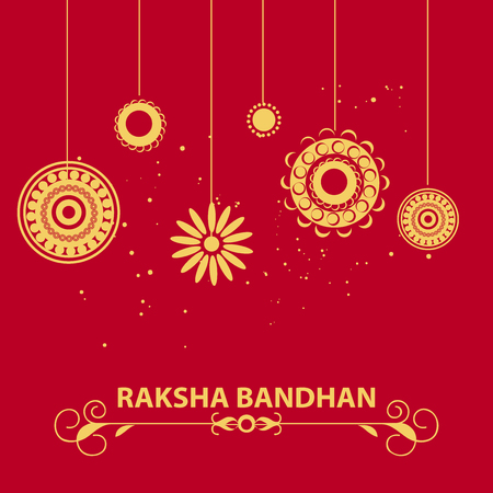 creative vector abstract for Happy Raksha Bandhan with nice and beautiful design illustration in a background.