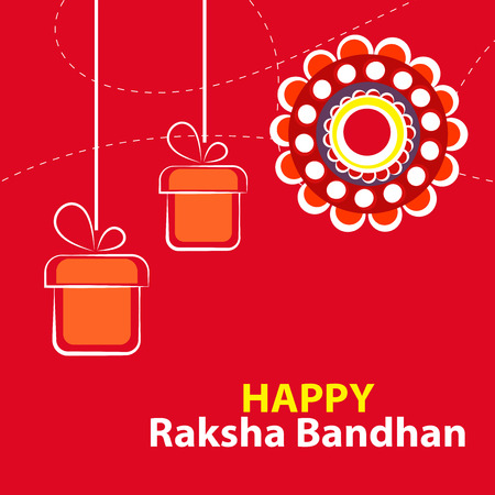 creative vector abstract for Happy Raksha Bandhan with nice and beautiful design illustration in a background. Vector Illustration