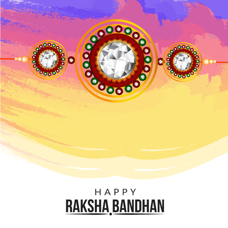 creative vector abstract for Happy Raksha Bandhan with nice and beautiful design illustration in a background. Illustration