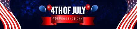 4th of July poster template.USA independence day celebration with American flag.USA 4th of July promotion advertising banner template for Brochures,Poster or Banner.