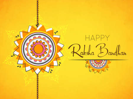 creative vector abstract for Happy Raksha Bandhan with nice and beautiful design illustration in a background. 矢量图像