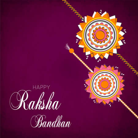 creative vector abstract for Happy Raksha Bandhan with nice and beautiful design illustration in a background. 写真素材 - 151140467