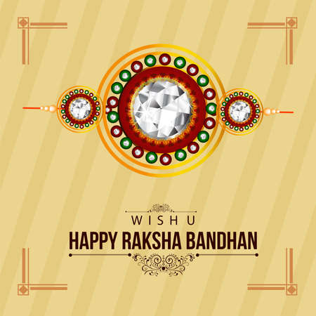 creative vector abstract for Happy Raksha Bandhan with nice and beautiful design illustration in a background. 免版税图像 - 151140582