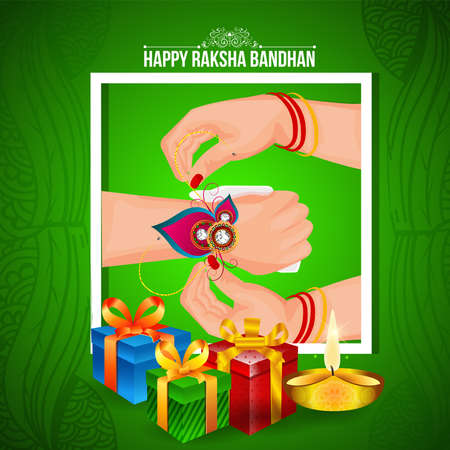 creative vector abstract for Happy Raksha Bandhan with nice and beautiful design illustration in a background. 免版税图像 - 151140587