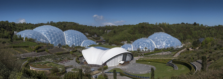 Eden project domes in St Austell Cornwall United Kingdom