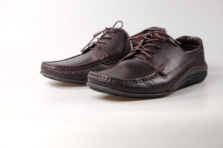 Brown Leather Shoe Stock fotó